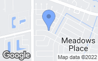 Map of Meadows Place, TX