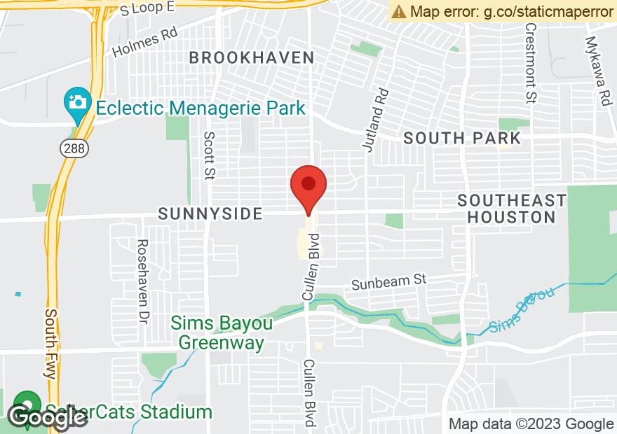 Google Map of 9200 CULLEN BLVD