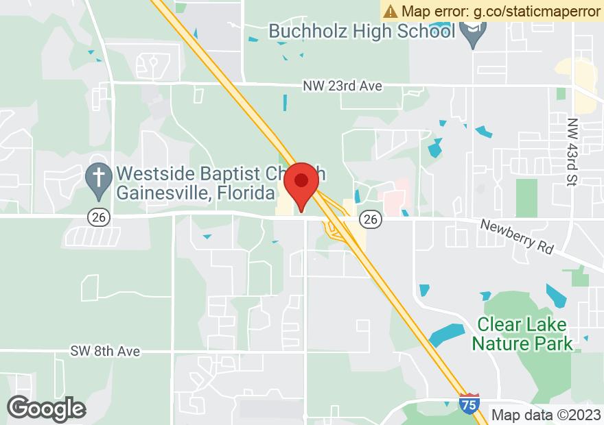 Google Map of 7520 W NEWBERRY RD