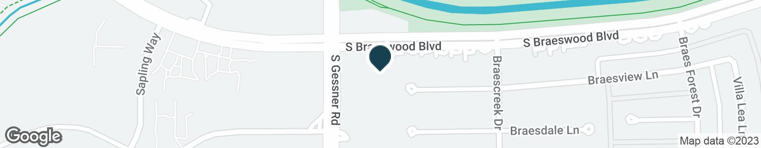 Google Map of8535 S BRAESWOOD BLVD