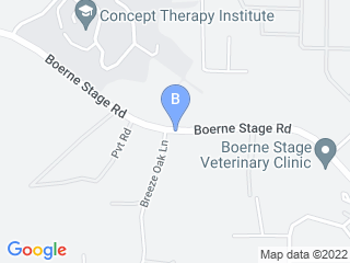 Map of Boerne Stage Veterinary Clinic Dog Boarding options in San Antonio | Boarding