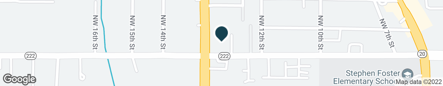 Google Map of3909 NW 13TH ST