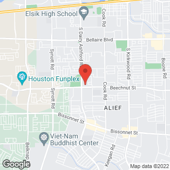 Map of Bernadette Iguh, DO at 12660 Beechnut Street, Houston, TX 77072