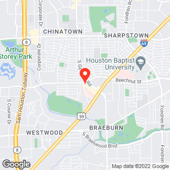 Map of Pizza in Houston, TX – Cicis Pizza at 8000 S Gessner Rd, Houston, TX 77036