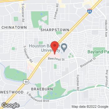 Map of Anne Le, MD at 7777 Southwest Freeway, Houston, TX 77074