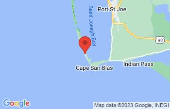 Map of Cape San Blas