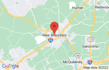 Map of New Braunfels