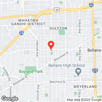 Map of Pizza in Houston – Cicis Pizza Near Me in 77081 at 5901 Bellaire Blvd, Houston, TX 77081