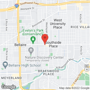 Map of Prosperity Bank Houston at 4065 Bellaire Blvd, Houston, TX 77025