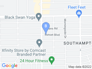 Map of Sunset Boulevard Animal Clinic Dog Boarding options in Houston | Boarding