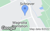 Map of Schriever, LA