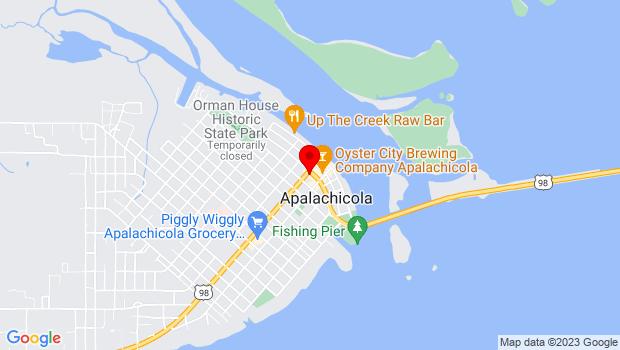 Google Map of 156 Market Street, Apalachicola, FL 32320