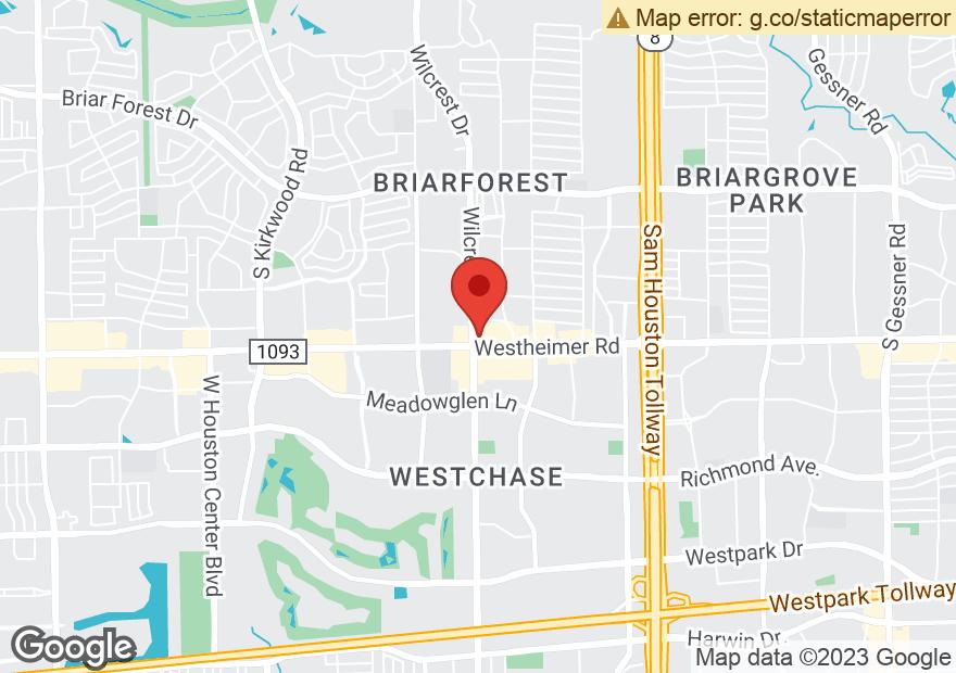 Google Map of 11038 WESTHEIMER RD