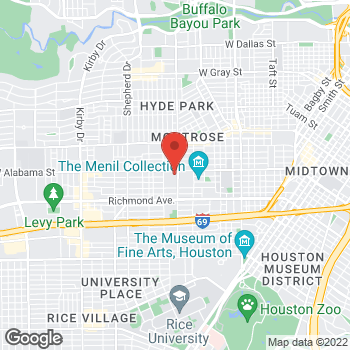 Map of RediClinic at 1701 W Alabama St, Houston, TX 77098