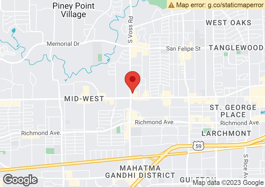Google Map of 6520 WESTHEIMER RD