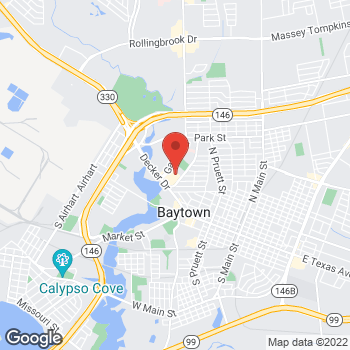 Map of Check `n Go at 1246-C Garth Rd., Baytown, TX 77520