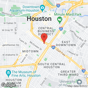 Map of Paul James, MD at 2101 Crawford Street, Houston, TX 77002