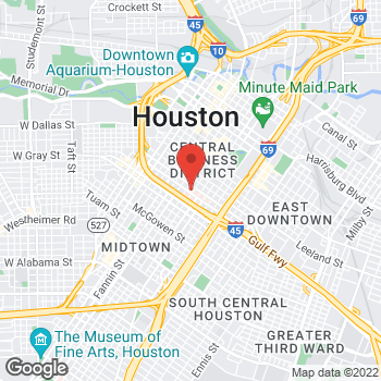 Map of Majaz Khan, DO at 1315 St. Joseph Parkway, Houston, TX 77002