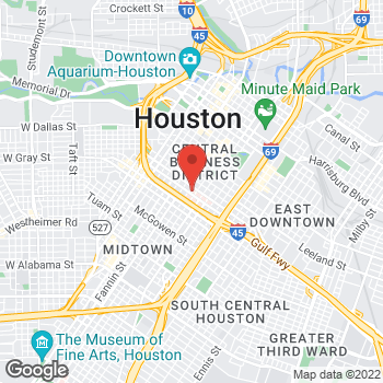 Map of Mariette Pierre, MD at 1315 St. Joseph Parkway, Houston, TX 77002