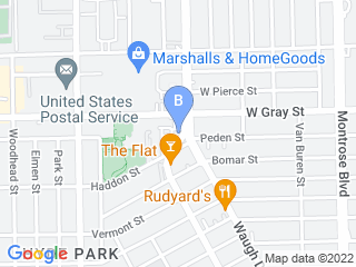 Map of Bed and Biscuits Pet Spa Dog Boarding options in Houston | Boarding