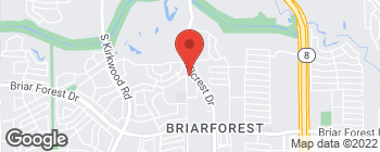 Map of 800 Wilcrest Dr in Houston