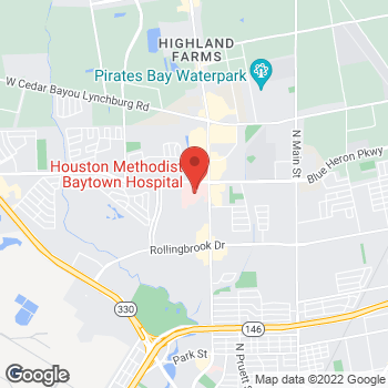 Map of Eli Newsome, MD at 4301 Garth Road Suite 302, Baytown, TX 77521