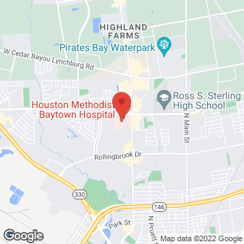 Map of Hongmei Husted, MD at 4301 Garth Road Suite 302, Baytown, TX 77521