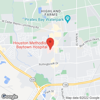 Map of John Cochran, MD at 4301 Garth Road Suite 302, Baytown, TX 77521