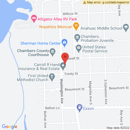 Chambers County Abstract Co on Map (545 Washington Ave, Anahuac, TX 77514) Map