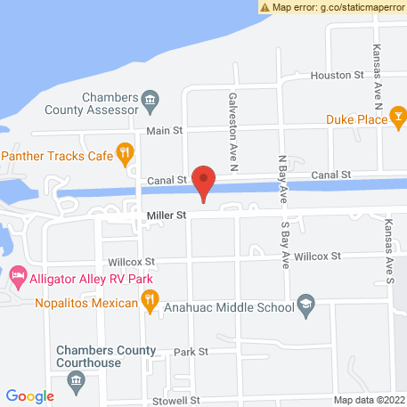 City of Anahuac - Surface Water Plant on Map (501 Miller St, Anahuac, TX 77514) Map