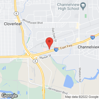 Map of Esteban Berberian, NP at 15201 East Freeway, Channelview, TX 77530