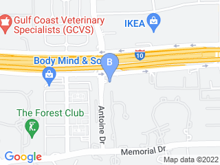 Map of Memorial 610 Pet Bed  Bath Inn Dog Boarding options in Houston | Boarding