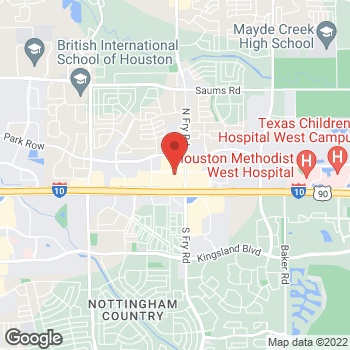 Map of Arby's at 1235 N. Fry Rd, Katy, TX 77449