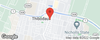 Map of 535 Canal Blvd in Thibodaux
