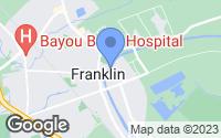 Map of Franklin, LA