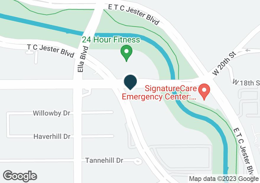 Google Map of1770 W T C JESTER BLVD