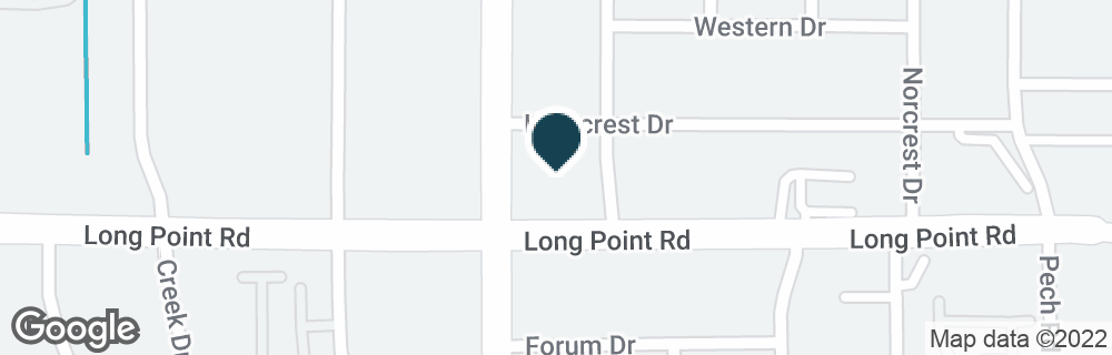 Google Map of8590 LONG POINT RD