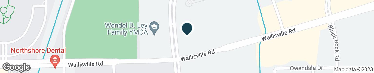 Google Map of15111 WALLISVILLE RD