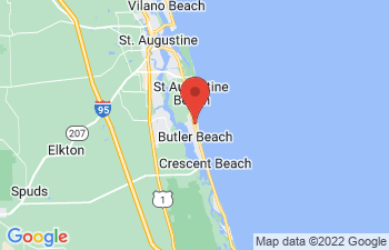 Map of St Augustine Beach