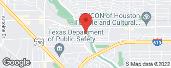 Map of 2916 W T C Jester Blvd in Houston