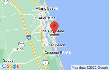 Map of St. Augustine Beach