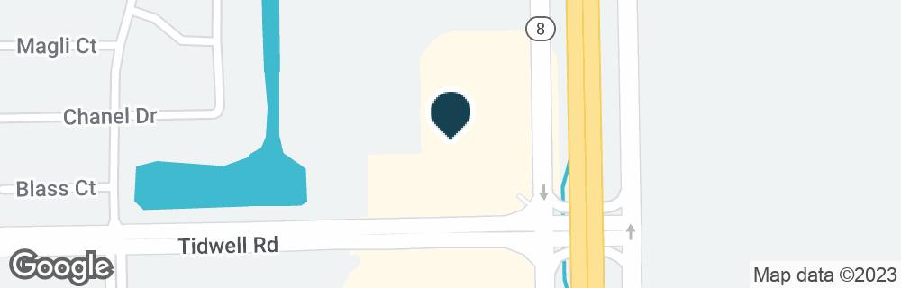 Google Map of13631 TIDWELL RD