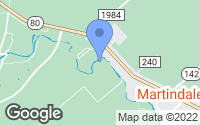 Map of Martindale, TX