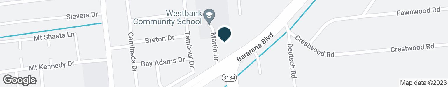Google Map of2570 BARATARIA BLVD