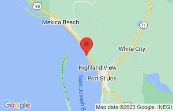 Map of St Joe Beach
