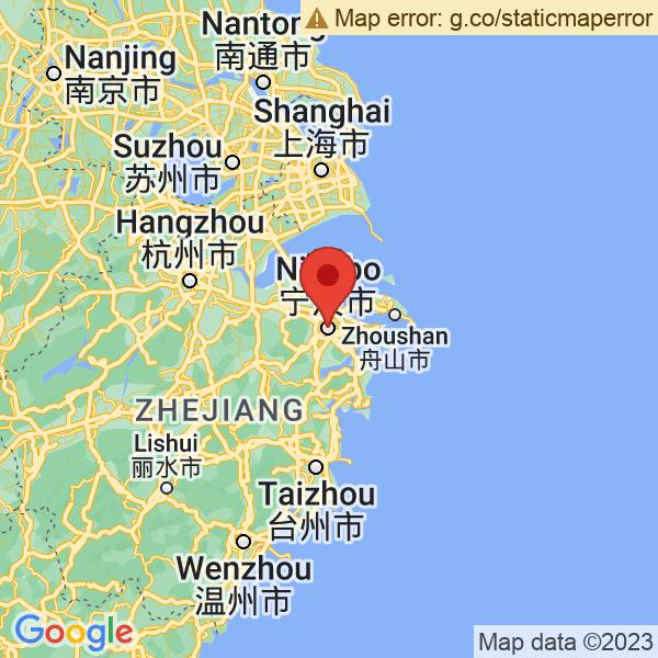 Google Map of 29.868336,121.54399000000001