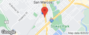 Map of 618 S Guadalupe St in San Marcos