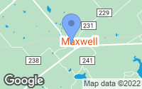 Map of Maxwell, TX
