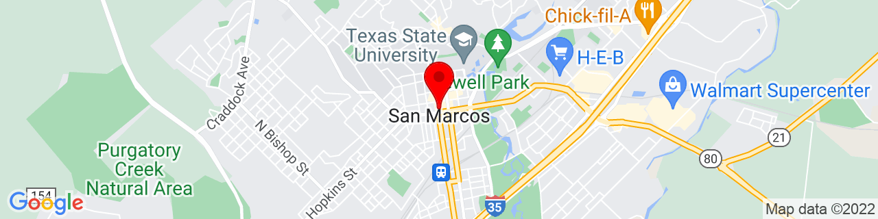 Google Map of 29.883333333333333, -97.9413888888889