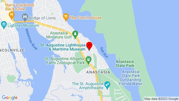 Google Map of 81 Lighthouse Avenue, St. Augustine, FL 32080